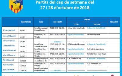 Partits 27 i 28 octubre