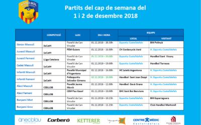 Partits del 1 i 2 de desembre