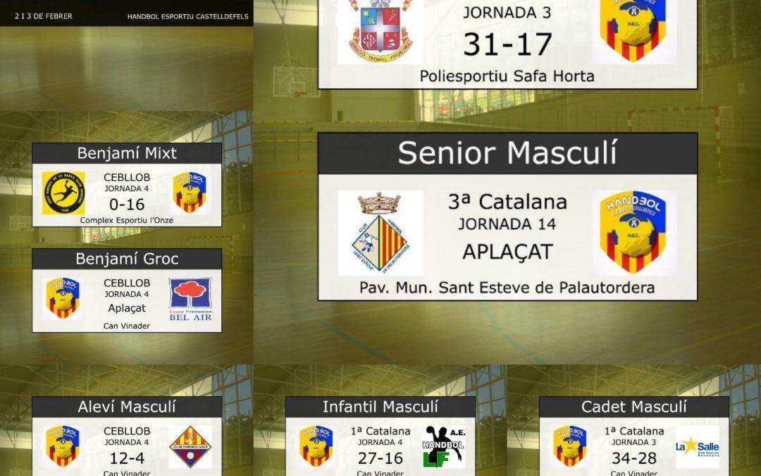 Resultats dels partits del 2 i 3 de febrer