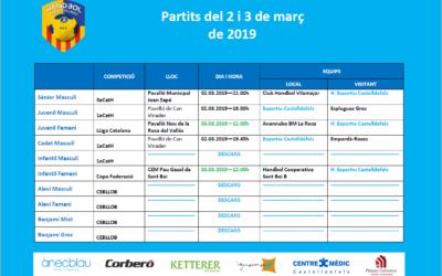 Partidos del 2 y 3 de marzo