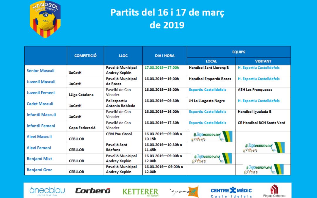 Partidos del 16 y 17 de marzo