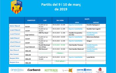 Partidos del 9 y 10 de marzo